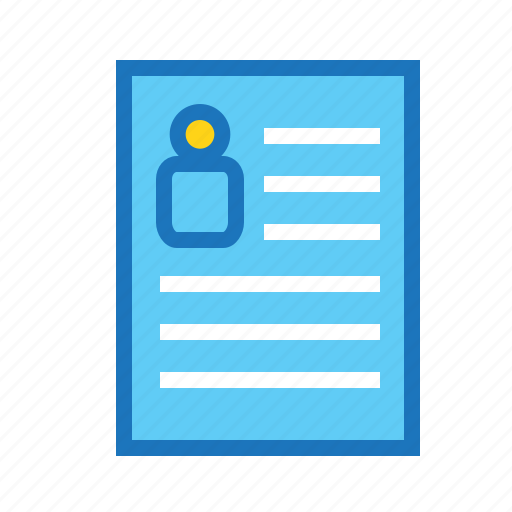 application, business, finance, profile, proposal, resume icon