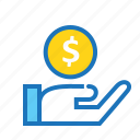 business, cash, currency, finance, office, payment icon