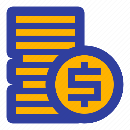 business, coin, coins, dollar, fees, finance, money icon