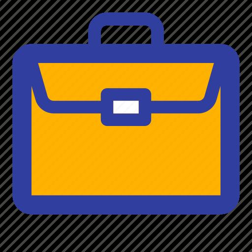 briefcase, business, finance, lock, office, suitcase, work icon