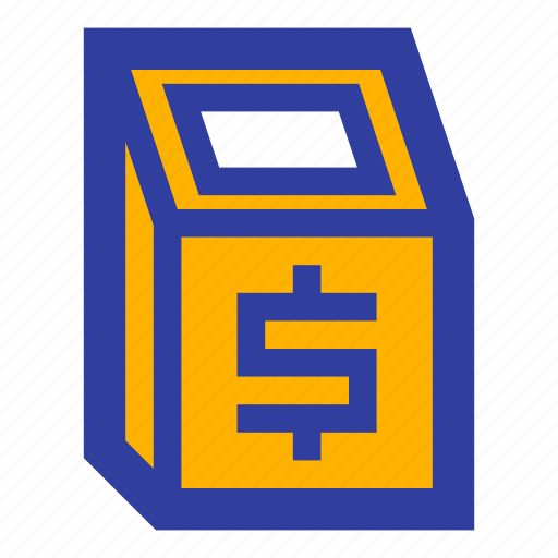 atm, business, device, digital, machine, payment, transaction icon