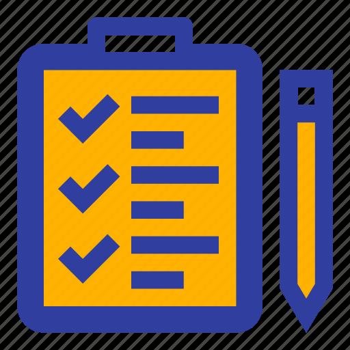 business, checklist, complete, dairy, pen, task, todo icon