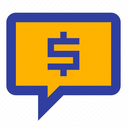 business, chat, communication, conversation, dollar, talk icon