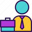 briefcase, business, employee, job, office bag, suitcase, work icon