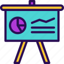 board, business, learning, presentation, strategy, training icon
