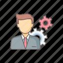 configuration, male, man, person, setting, settings, user icon