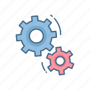 configuration, gear, options, repair, settings, tools, work icon