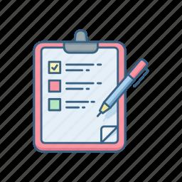 check, checklist, clipboard, list, mark, menu, tick icon