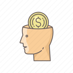 business, dollar, face, finance, mind, minded icon
