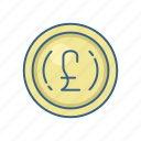 british, business, cash, currency, finance, money, pound icon