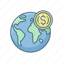 country, currency, economy, gdp, money, payment, value icon