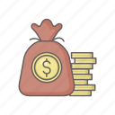 bag, budget, finance, fund, funds, investent, money icon