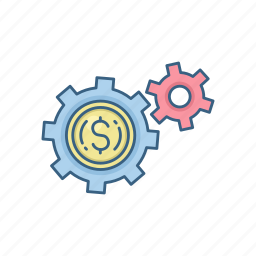 configuration, currency, dollar, finance, payment, settings icon