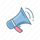 bullhorn, loud, loudspeaker, megaphone, sound, volume icon