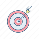 aim, archery, dartboard, game, goal, target icon