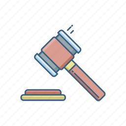 court, hammer, insurance, justice, law, legal icon