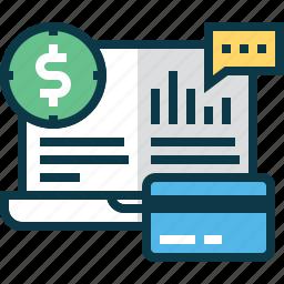 account, analytics, bank, banking, business, chart, money icon