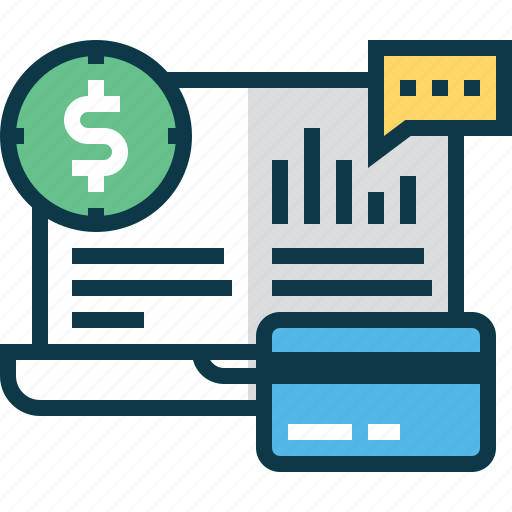 account, analytics, bank, banking, business, chart, money icon