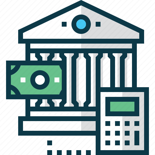 bank, banknote, business, calculator, dollar, exchange, stock icon