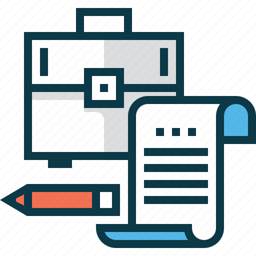 business, case, contract, decree, document, office, pencil icon