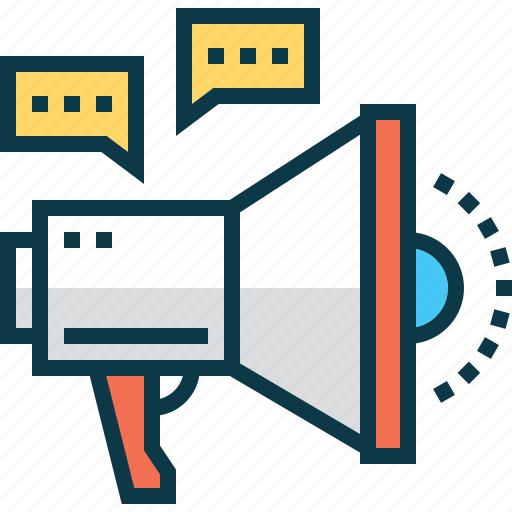 ad, marketing, megaphone, promo, speaker, talk icon