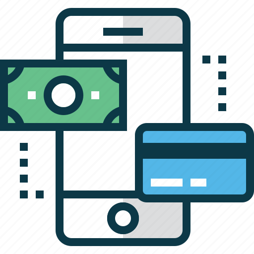 banknote, buy, card, dollar, mobile, phone, shop icon