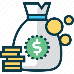 bag, bank, business, coin, dollar, money, moneybag icon