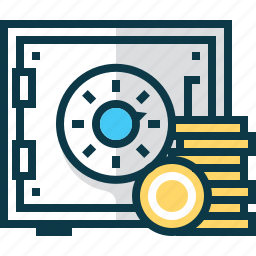 bank, business, coin, money, safe, strongbox icon