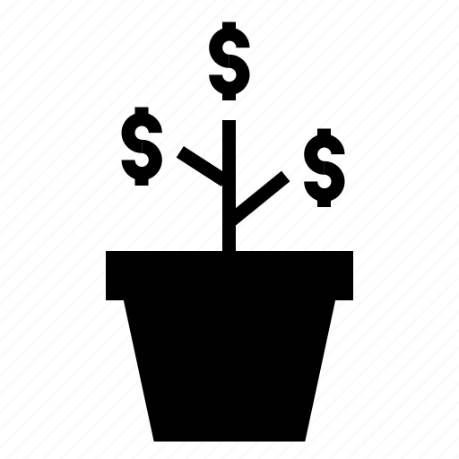 finance, growth, investment, money, plant icon