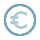 business, cash, coin, currency, euro, finance, money icon