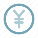 cash, coin, currency, finance, money, yen, yuan icon