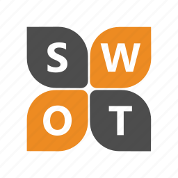 analysis, opportunities, strengths, swot, threats, weaknesses icon
