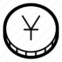 business, cash, coin, currency, finance, money, yen icon