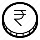 cash, coin, currency, finance, money, rupee, business