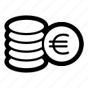 business, coins, currency, eur, euro, finance, money icon