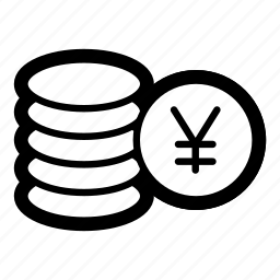business, cash, coins, currency, finance, money, yen icon