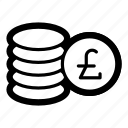 business, cash, coins, currency, finance, liras, money icon