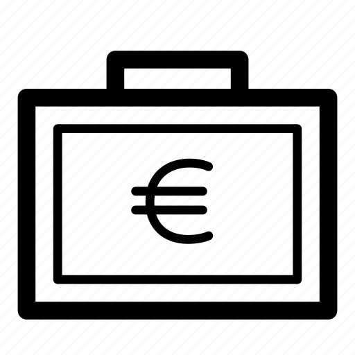 bag, cash, currency, euro, finance, money, suitcase icon
