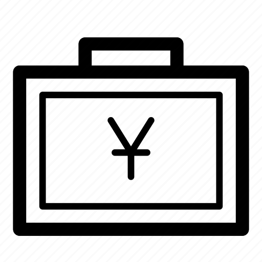 Bag, cash, currency, finance, money, suitcase, yen icon - Download on Iconfinder