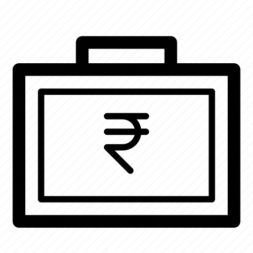 bag, cash, currency, finance, money, rupee, suitcase icon