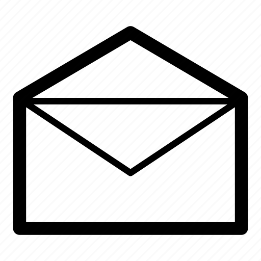 contacts, email, envelope, mail, opened icon
