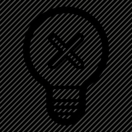 bad, bad idea, no idea, rejected, wrong icon