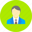 avatar, business, financial, human, male, man, person icon