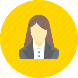 business, finance, financial, girl, in a suit, user, woman icon