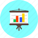analytics, business, diagram, flipchart, graph, presentation, statistics icon