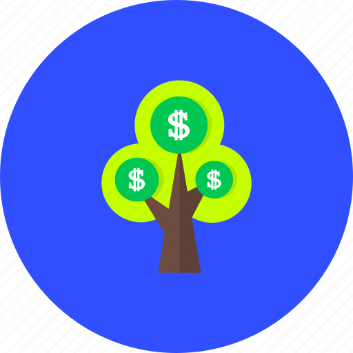 business, currency, finance, financial, money, shopping, tree icon