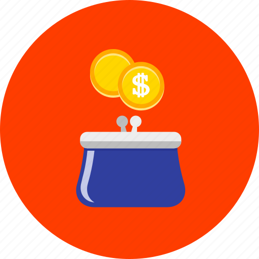 business, cash, currency, finance, handbag, money, purse icon