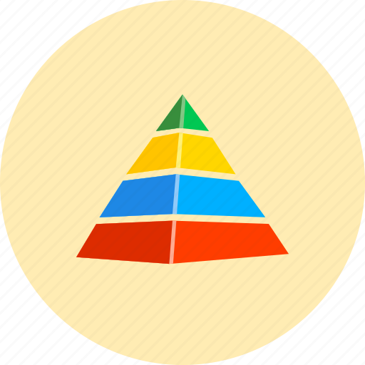 analytics, diagram, graph, pyramid, report, statistics, structure icon
