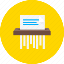 document, extension, page, paper, sheet, shredder, trash icon