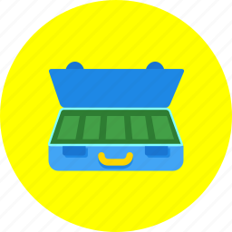 briefcase, business, cash, finance, financial, money, suitcase icon